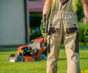Garden Is My Mission. Caucasian Landscaper Gardener Ready For Hard Garden Work.